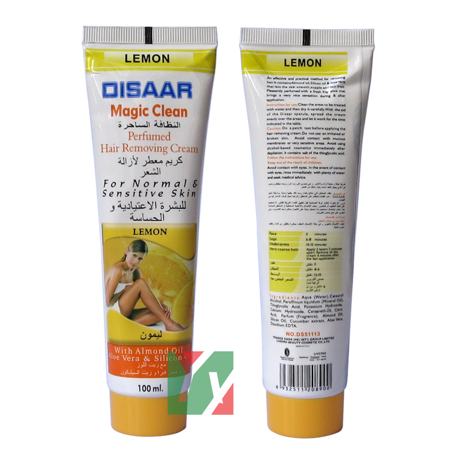 disaar magic clean lemon hair removing cream 100ml